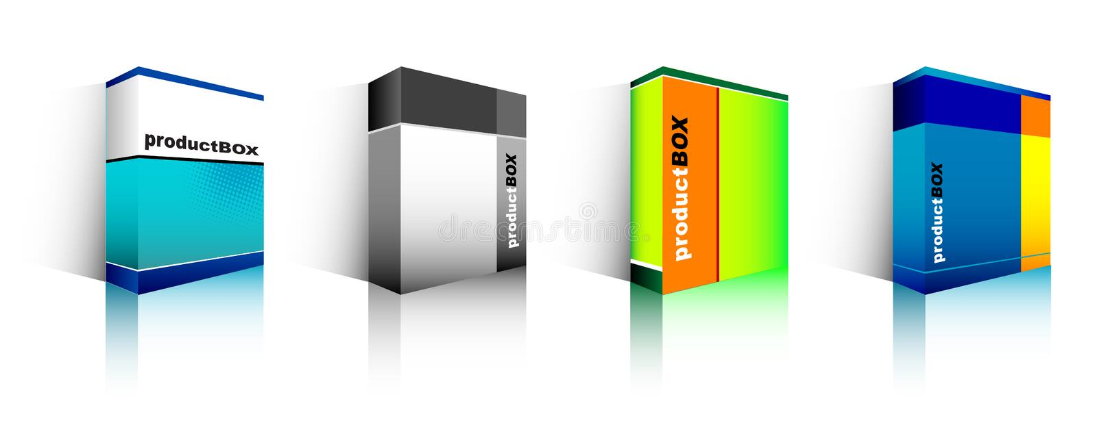 Download Software box stock vector. Image of different, customize - 2542179