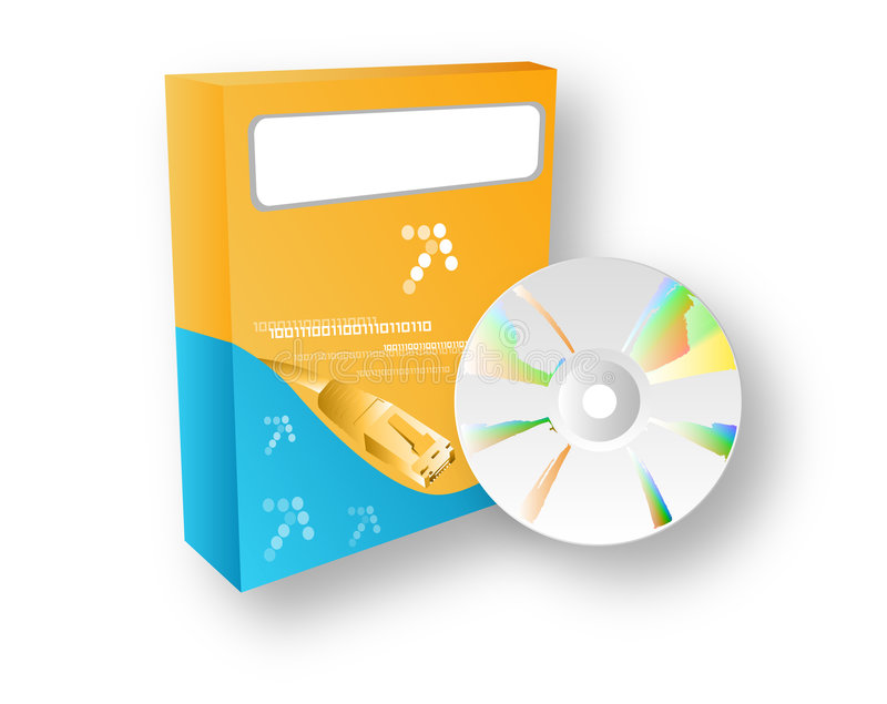 Software Box With Cdrom Royalty Free Stock Photo