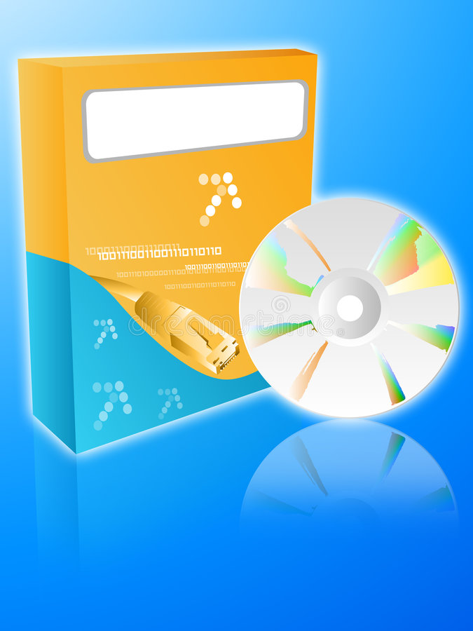 Download Software box with cdrom stock illustration. Illustration of blank - 3051809