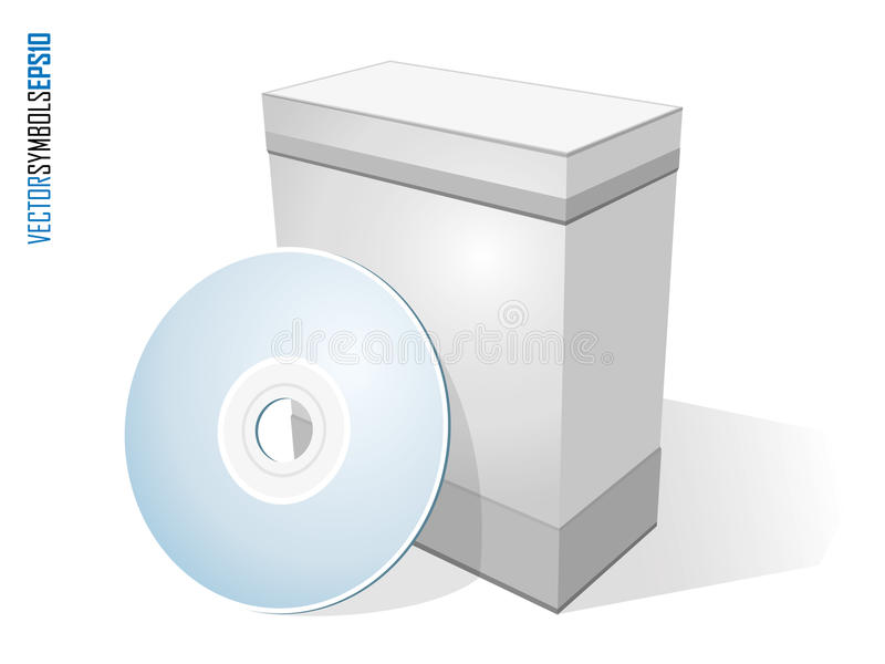 Software box with disc vector illustration