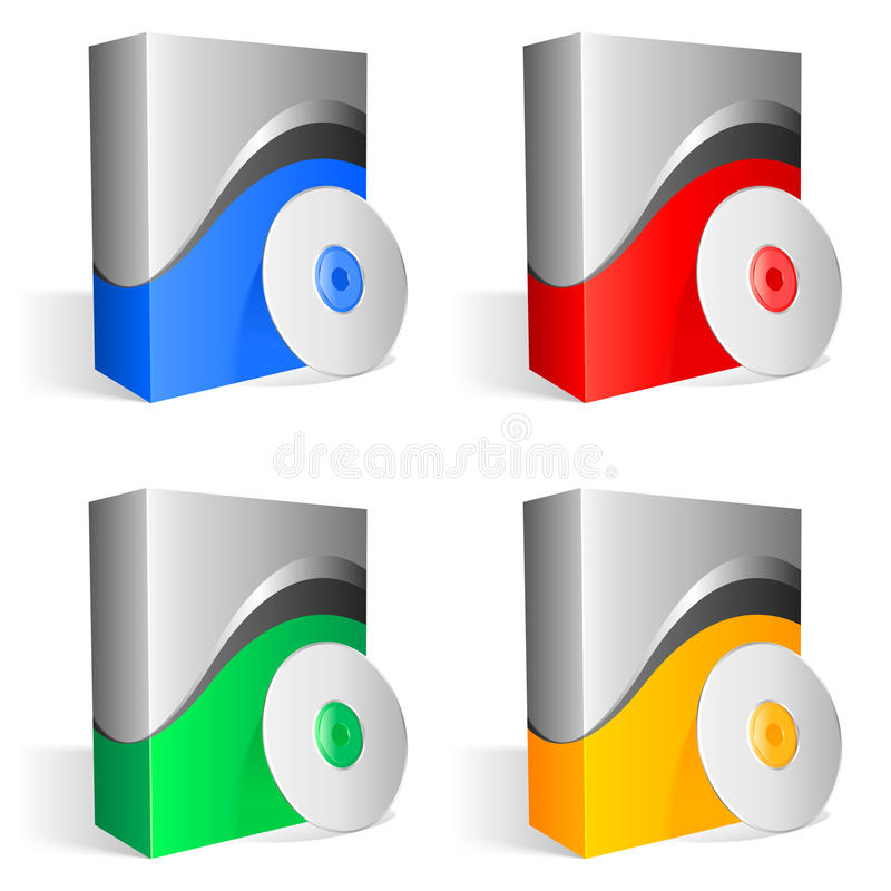 Download Software boxes. stock vector. Image of background, design - 12394375
