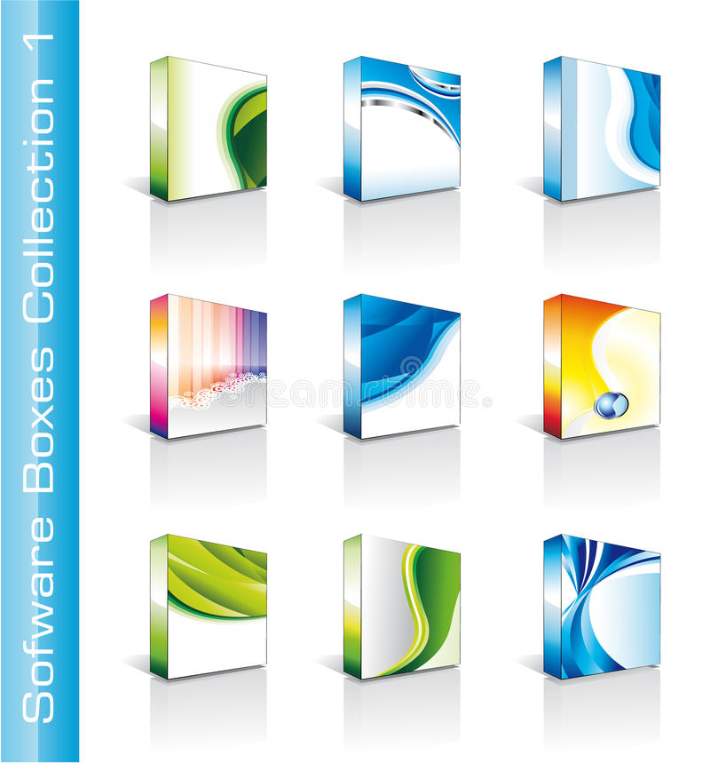 Software Boxes Collection vector illustration