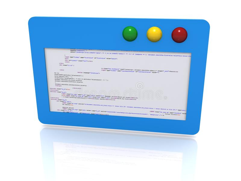 Software code illustration. An illustration of a software with codes stock image