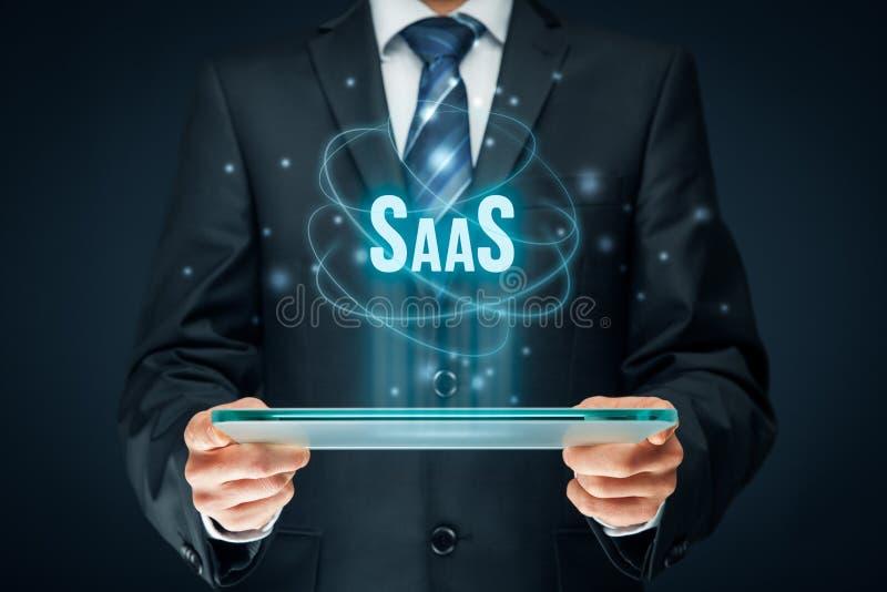 Software como servicio SaaS fotos de archivo libres de regalías