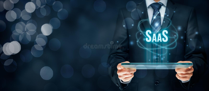 Software como um serviço SaaS fotos de stock