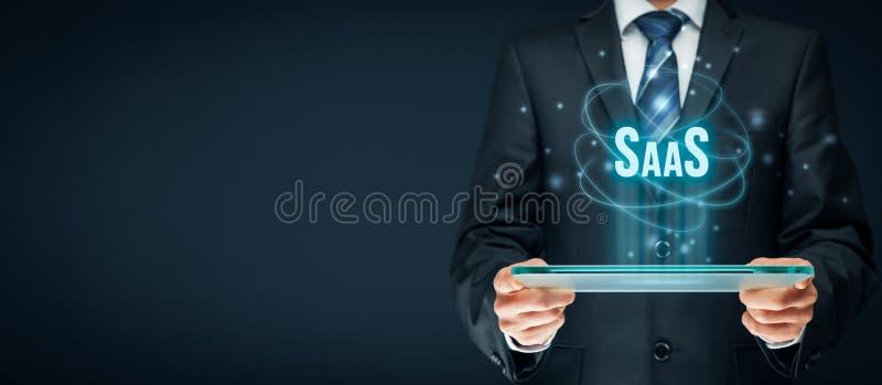 Software como um serviço SaaS foto de stock royalty free