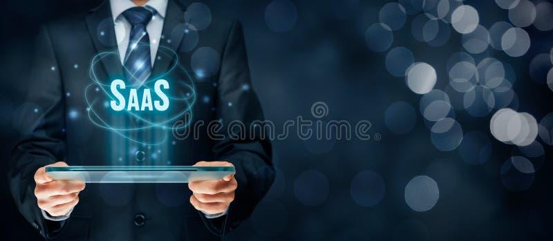 Software como um serviço SaaS ilustração do vetor