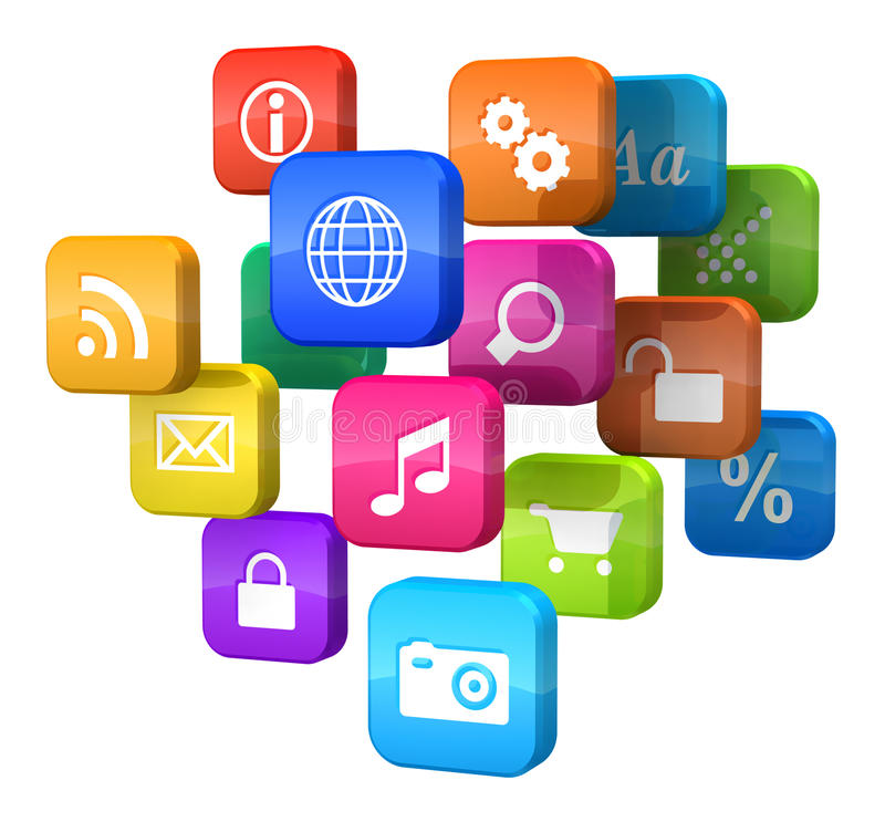 Download Software Concept: Cloud Of Program Icons Stock Illustration - Image: 21466262