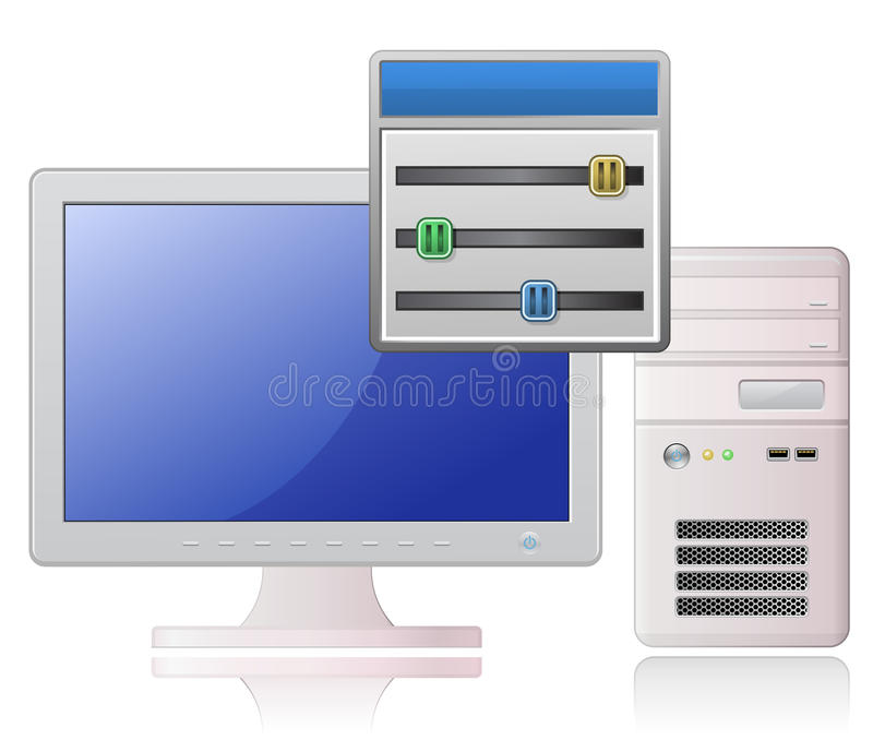 Download Software Control Panel Icon Stock Image - Image of communications, shiny: 13581489