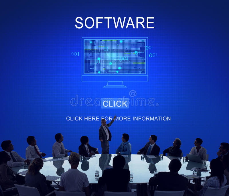 Software Data Digital Programs System Technology Concept stock images