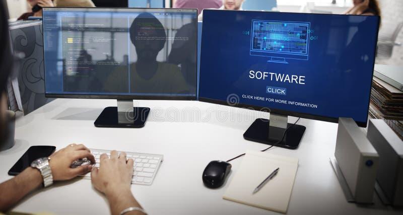 Software-Daten-Digital-Programm-Systemtechnik-Konzept stockfotografie