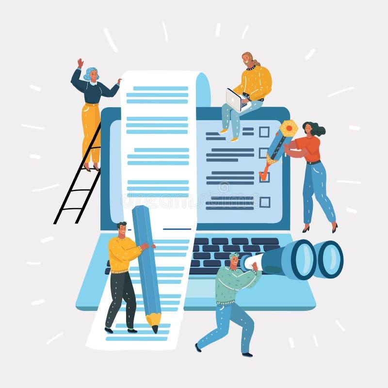 Software, desarrollo web, concepto del proyecto libre illustration
