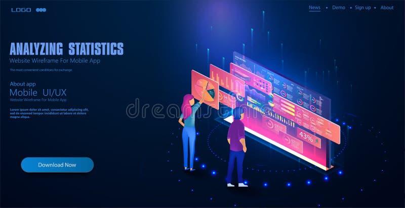 Software, desarrollo web, programando ilustración del vector