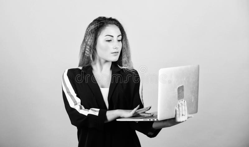 Software developer. Developer write code. Project manager. Job openings for junior developer. Surfing internet. Study. Programming. Blogging concept. Online royalty free stock photo