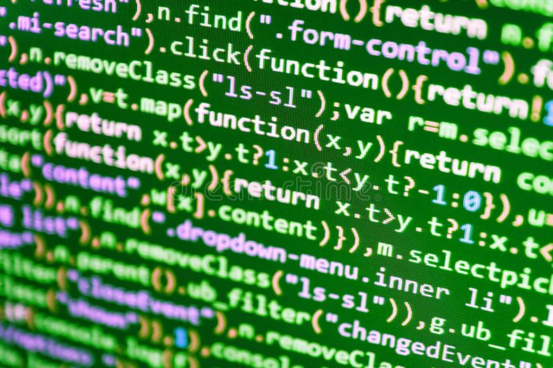 Software development. Abstract technology royalty free stock photos