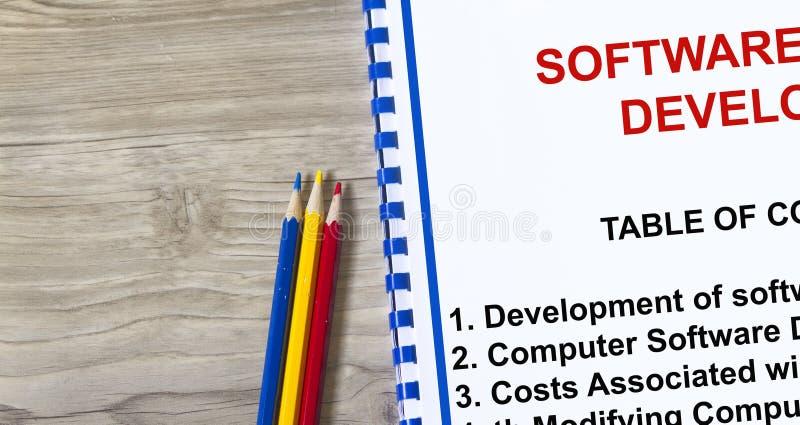 Software development royalty free stock photo