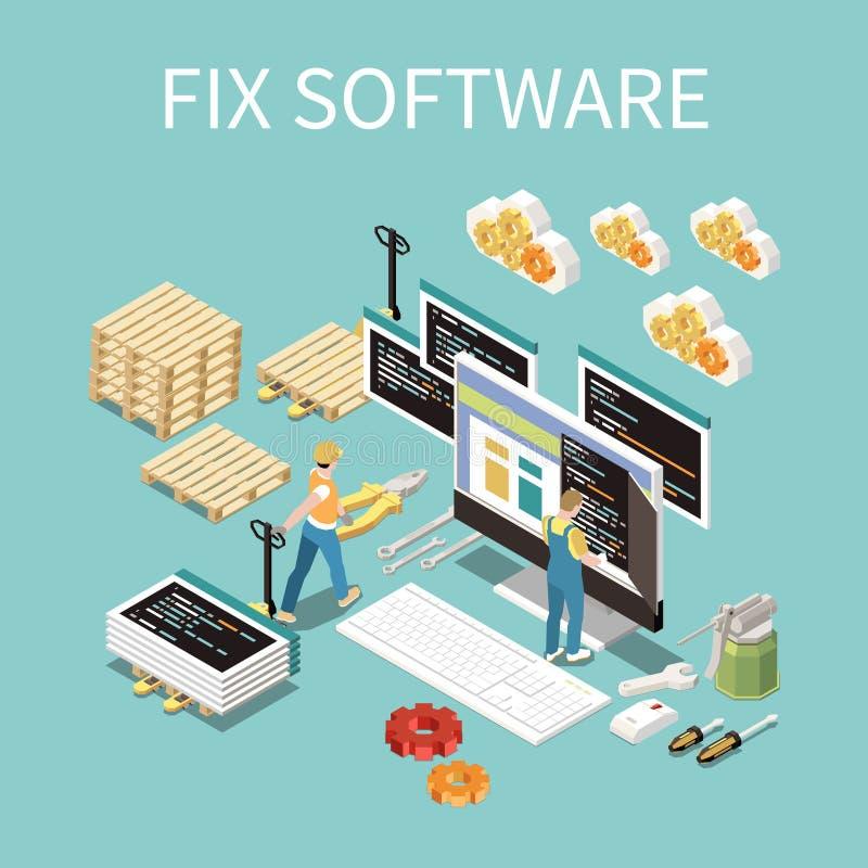 Software Development Concept vector illustration