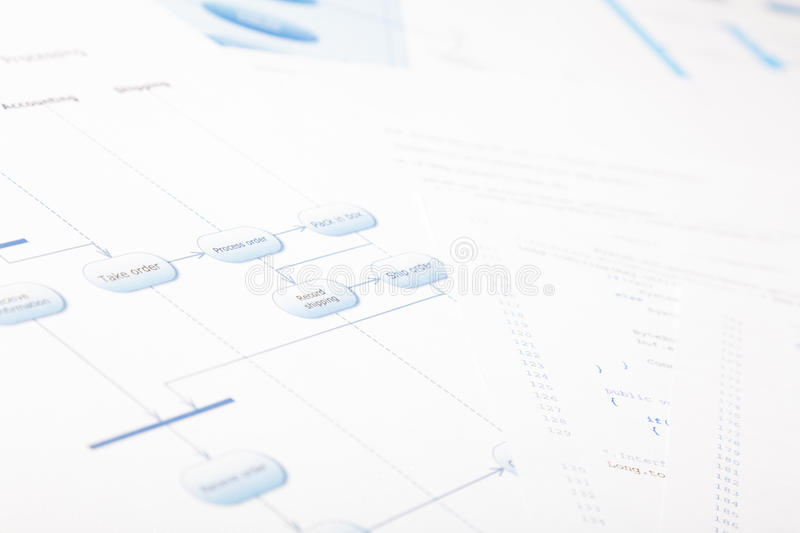 Software Development Documents royalty free stock image