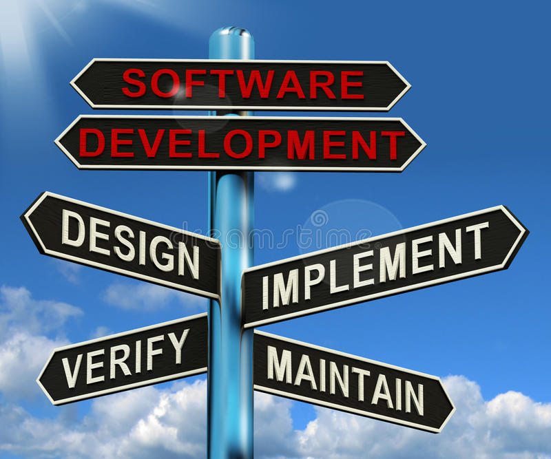 Software Development Showing Design vector illustration