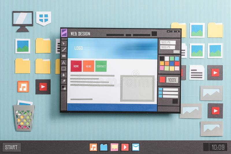 Software di web design fotografie stock