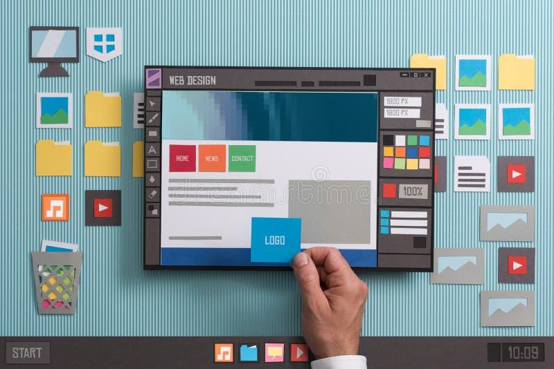 Software di web design immagini stock libere da diritti