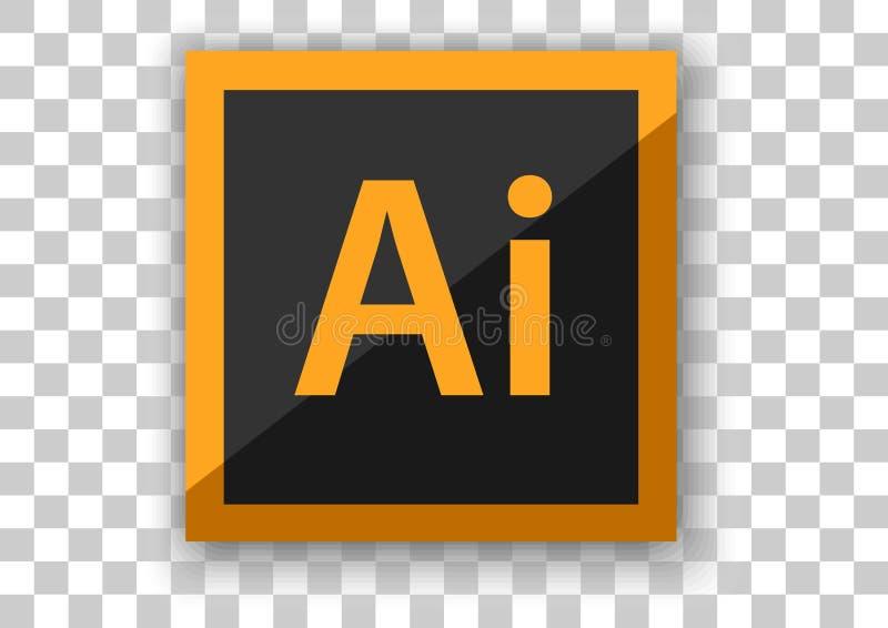 Software do projeto do ícone do ilustrador de Adobe ilustração do vetor