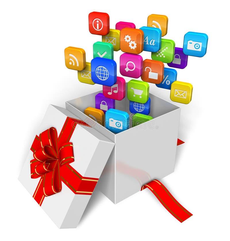 Software e conceito dos multimédios ilustração royalty free