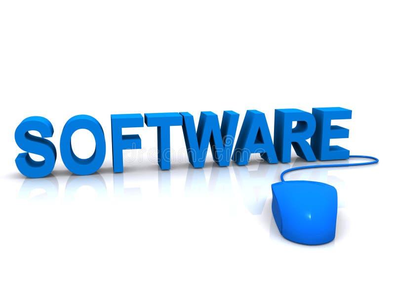 Software e rato ilustração do vetor