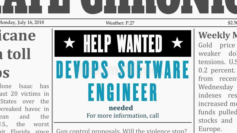 Software Engineer di DevOps illustrazione vettoriale