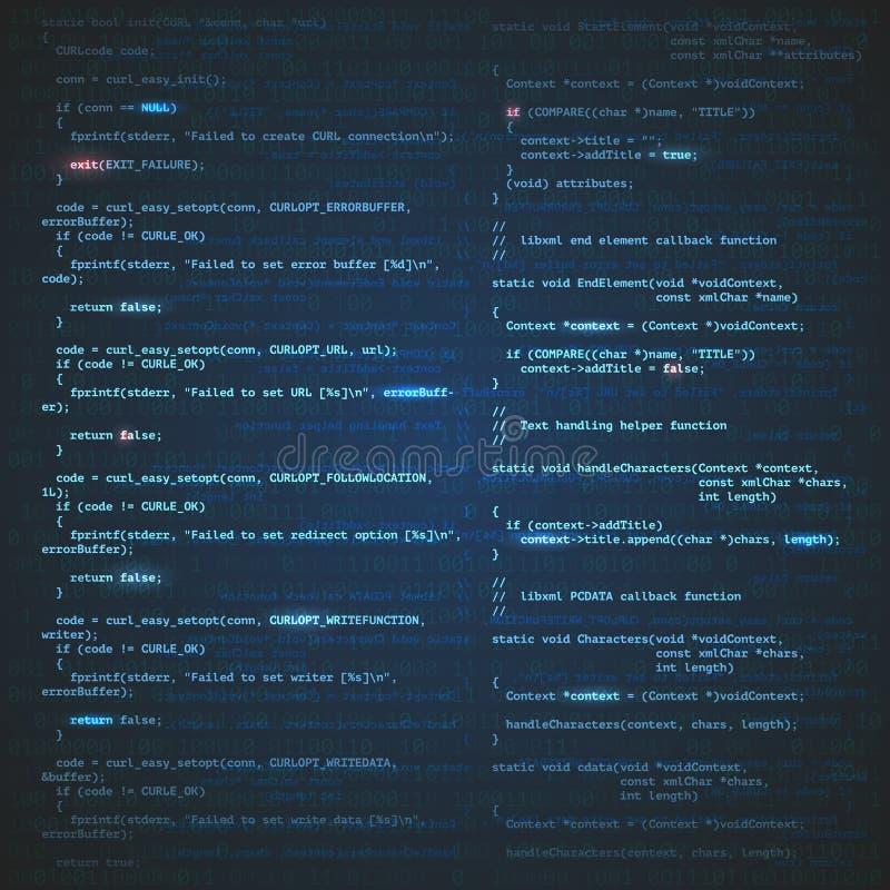 Software engineering background vector illustration