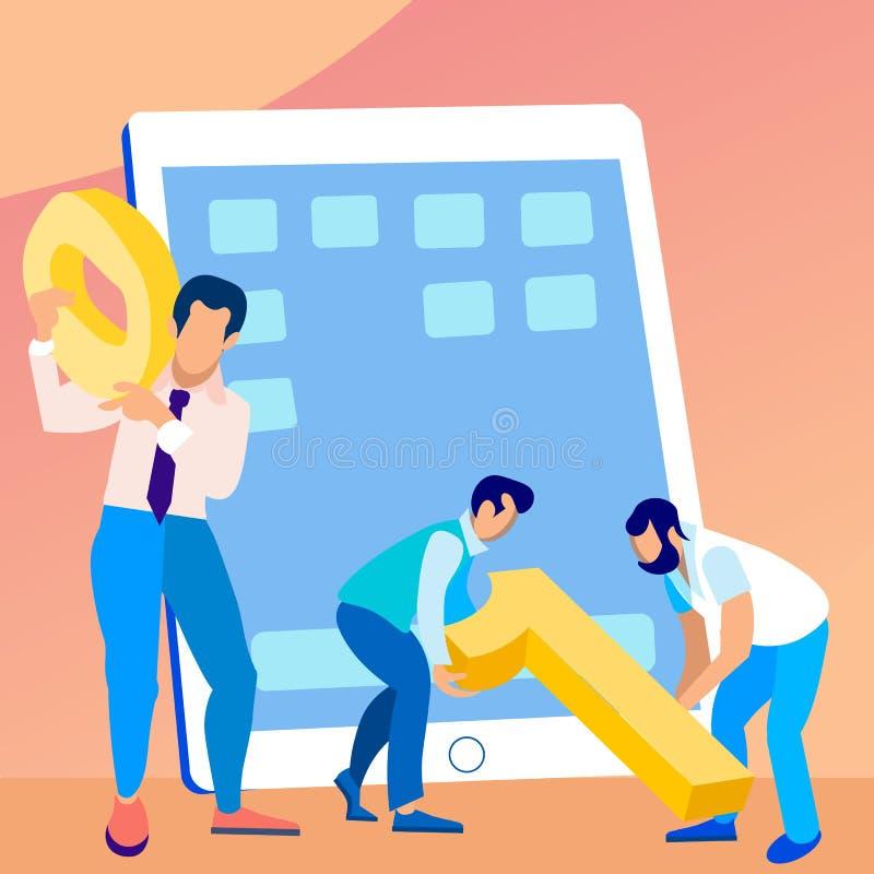 Software Engineers que trabajan junto el ejemplo stock de ilustración