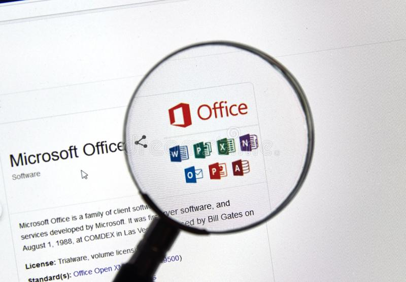 Software für Microsoft Office 365 stockfoto