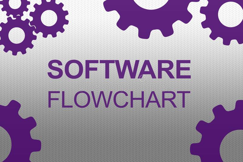 SOFTWARE FLOWCHART concept royalty free illustration