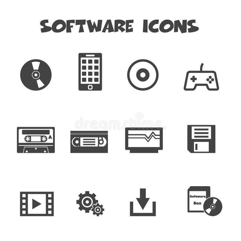 Software icons. Mono vector symbols royalty free illustration
