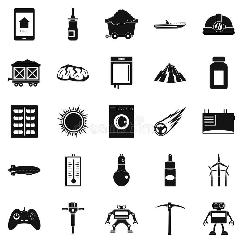 Software icons set, simple style. Software icons set. Simple set of 25 software vector icons for web isolated on white background vector illustration