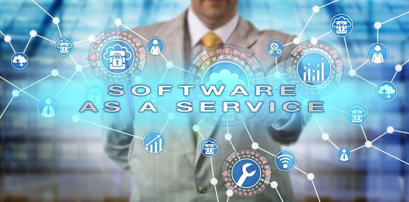 SOFTWARE incorporado de Operating do gerente COMO um SERVIÇO fotografia de stock