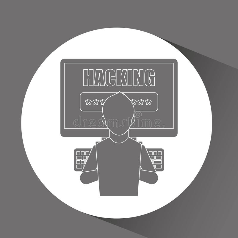 Software infections design. Illustration eps10 graphic royalty free illustration