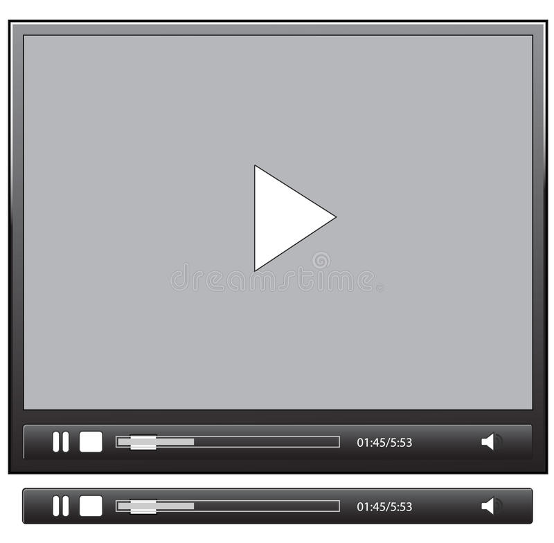Software interface. Media software player interface gui application stock illustration