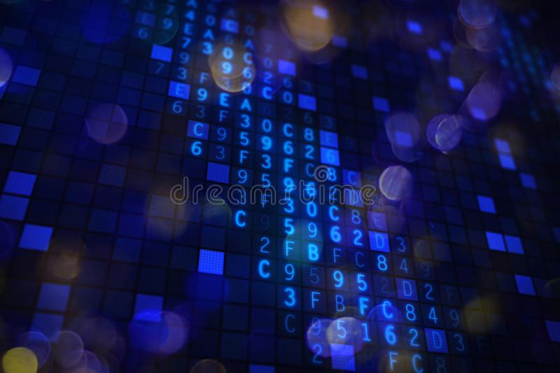 Software internet security hex code background royalty free illustration