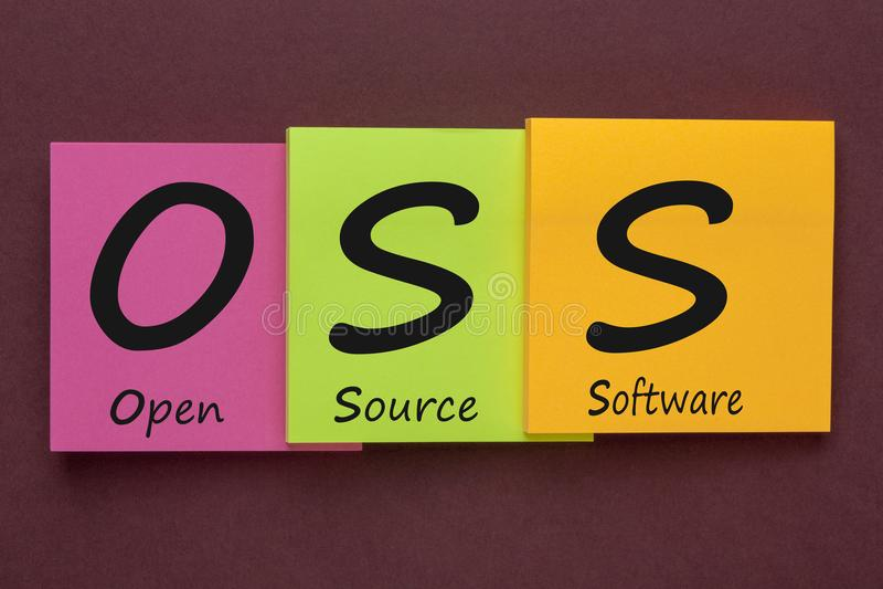 Software libre OSS fotografía de archivo libre de regalías