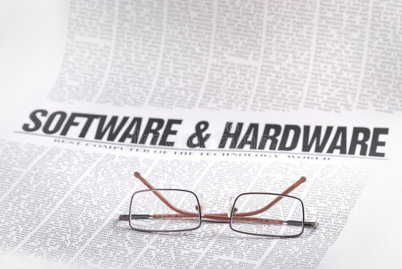 Software-Nachrichten stockfoto