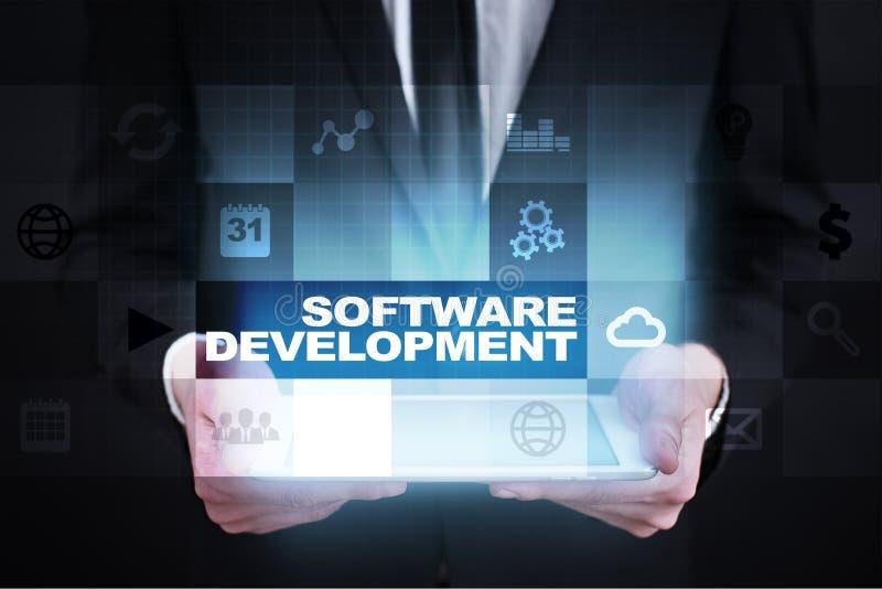 Software-ontwikkeling Toepassingen APPS voor zaken programmering royalty-vrije stock afbeeldingen
