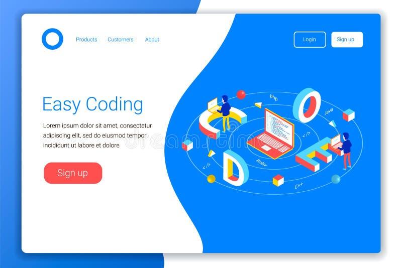 Software-ontwikkelingconcept stock illustratie