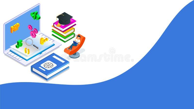 Software programming concept based isometric design. royalty free illustration