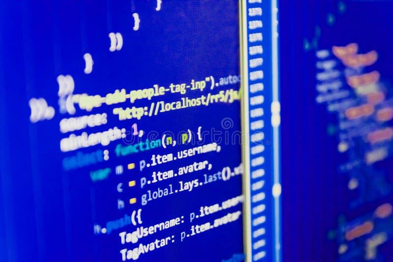 Software-Quellcode stockbild