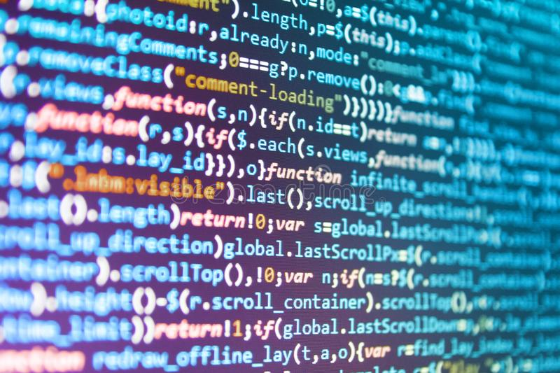Software-Quellcode lizenzfreie stockbilder