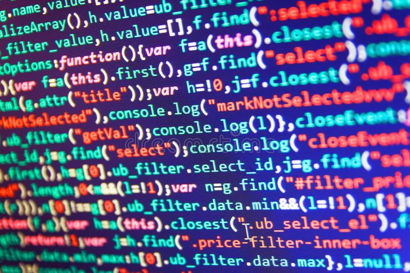 Software-Quellcode stockfotos