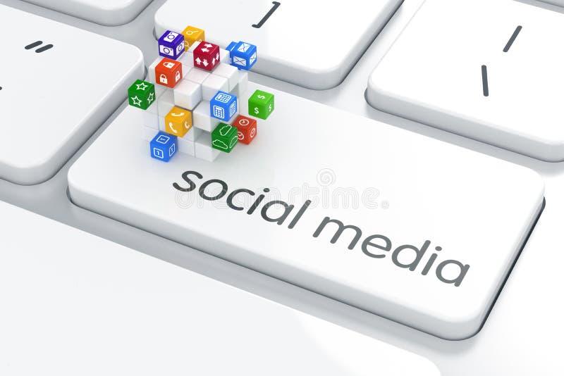 Software, sociaal media concept stock illustratie