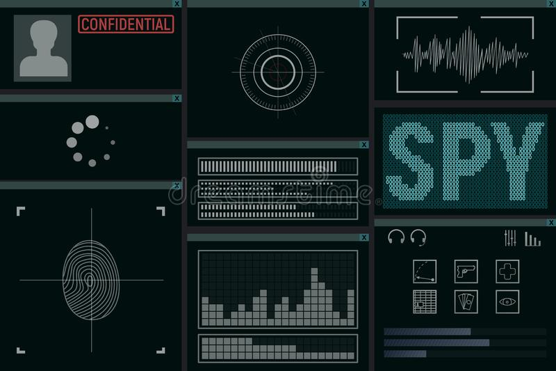 Software for the spy. vector illustration