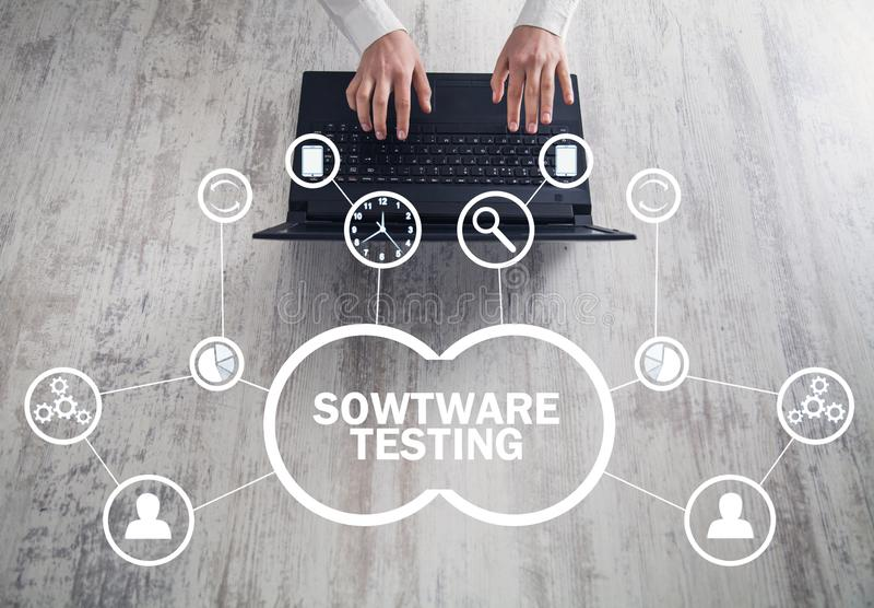 Software Testing. Internet, Business, Technology Concept royalty free illustration